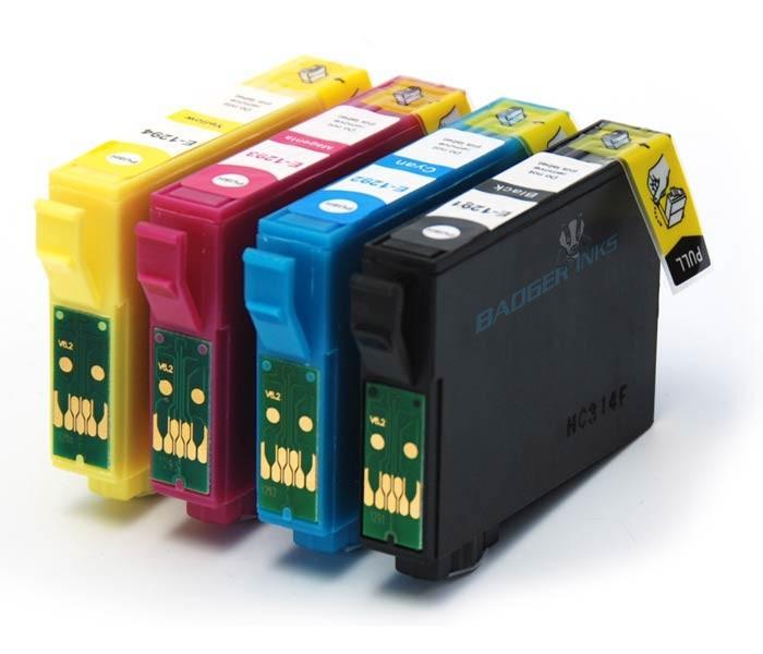 Kompatibilní inkousty s Epson T1285 černý, modrý, červený a žlutý