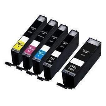 Kompatibilní inkousty s Canon CLI-551 XL černý, modrý, červený a žlutý + PGI-550Bk XL
