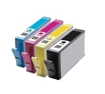Kompatibilní inkousty s HP N9J74AE (HP364XL) černý, modrý, červený a žlutý