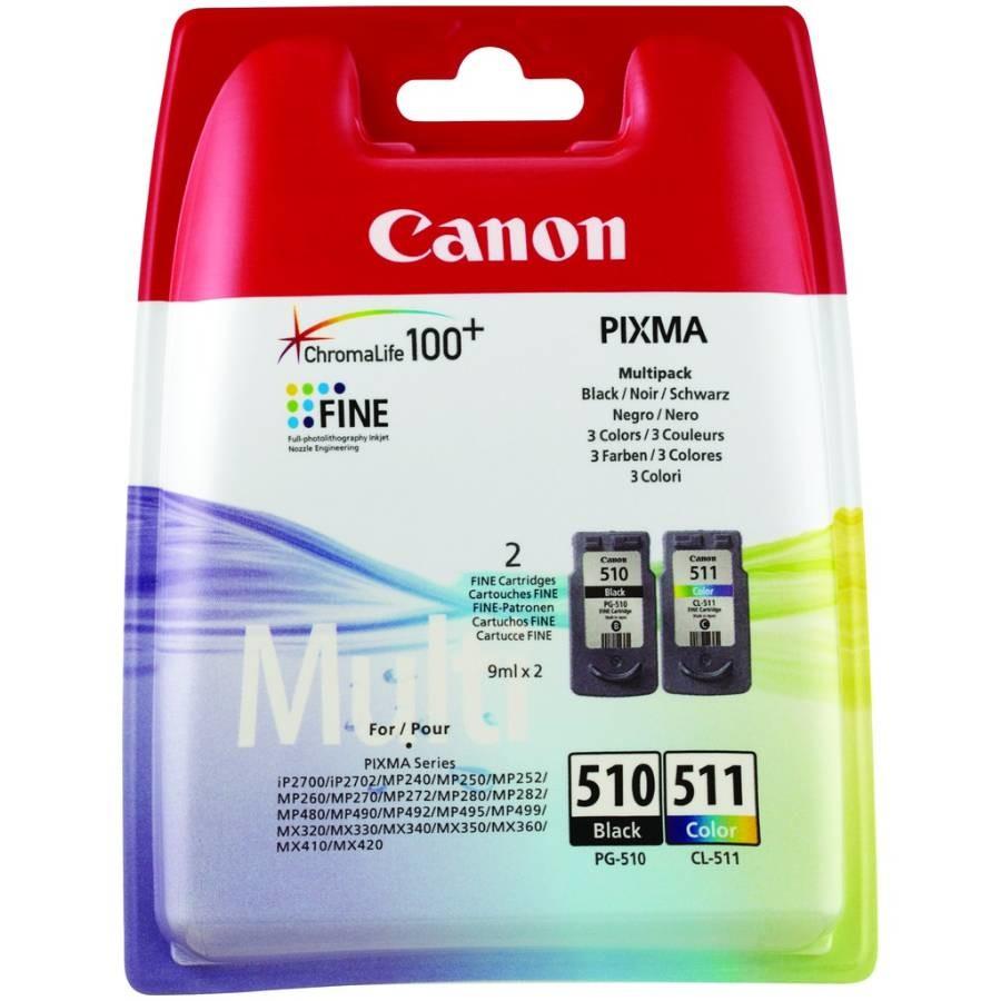 Originální inkoust Canon PG-510 černý + CL-511 barevný - Multipack