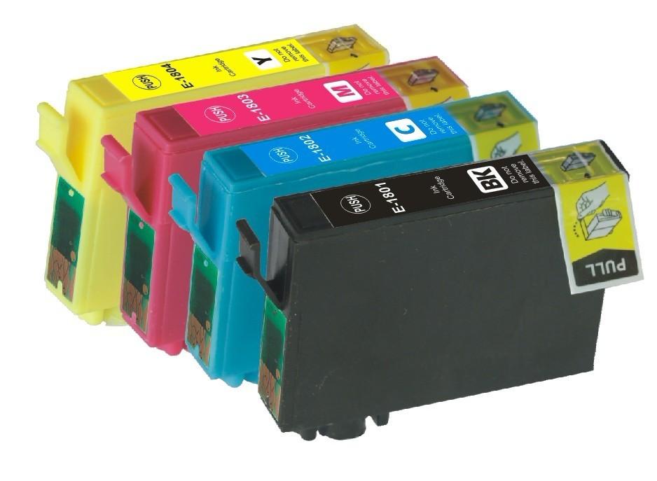 Kompatibilní inkousty s Epson T1815 černý, modrý, červený a žlutý