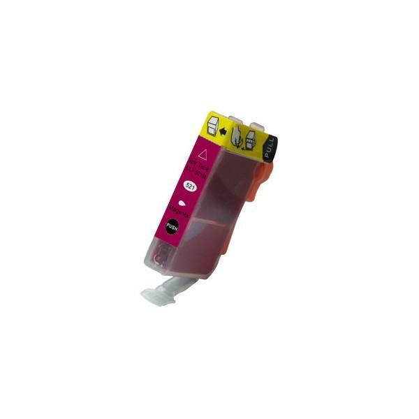 Kompatibilní inkoust s Canon CLI-521M červený