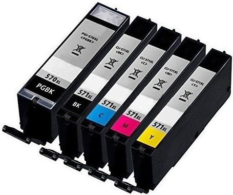 Kompatibilní inkousty s Canon CLI-571 XL černý, modrý, červený a žlutý + PGI-570Bk XL