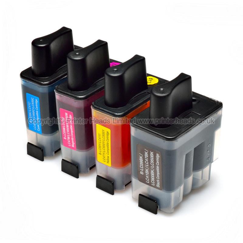 Kompatibilní inkousty s Brother LC-900 černý, modrý, červený a žlutý