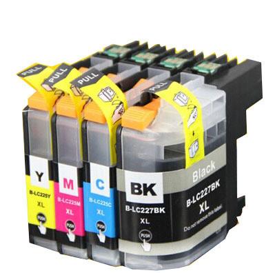 Kompatibilní inkousty s Brother LC-227XL černý + LC-225XL modrý, červený a žlutý