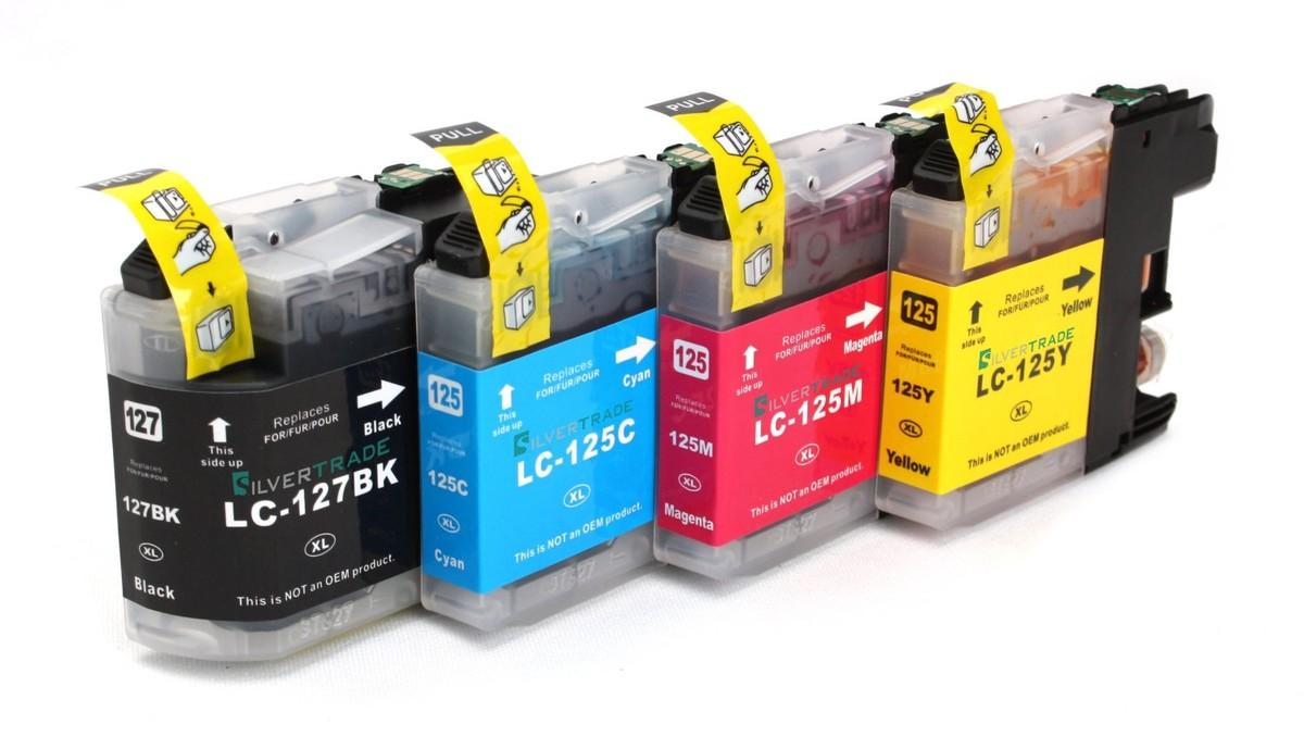 Kompatibilní inkousty s Brother LC-125XL / LC-127XL černý, modrý, červený a žlutý