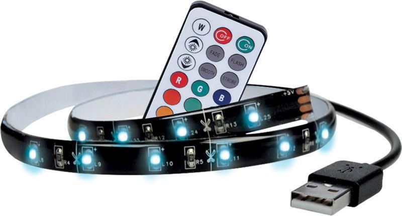 Solight LED RGB pásek pro TV,100cm, USB, vypínač, dálkový ovladač