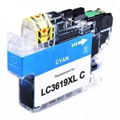 Kompatibilní inkoust s Brother LC-3619XLC, azurový
