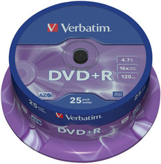 VERBATIM DVD+R AZO 4.7GB, 16x, spindle 25 ks