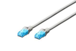 Digitus DK-1512-050 Ecoline Patch Cable, UTP, CAT 5e, AWG 26/7, šedý, 5m