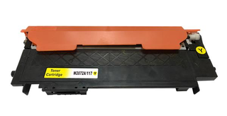 Kompatibilní toner HP W2072A (117A), žlutý, bez čipu