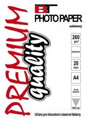 Saténový fotopapír Satin Inkjet A4/260g (20 listů v balení)