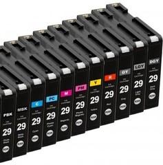Kompatibilní inkousty s Canon PGI-29PBK/MBK/C/M/Y/PC/PM/GY/LGY/DGY/R Multipack