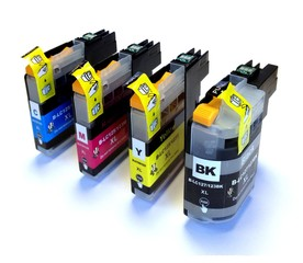 Kompatibilní inkousty s Brother LC-123 černý, modrý, červený a žlutý