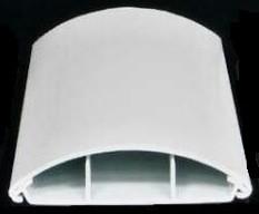 LO 75 KD - Lišta oblá světle šedá, 2m