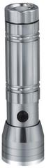 Solight LED svítilna, stříbrná, se šňůrkou, 15x LED + 1x laser, WL27