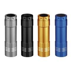 Solight LED svítilna, kovová, 4 barvy, se šňůrkou, 9x LED, WL26