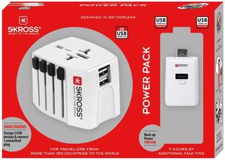Skross cestovní adaptér SKROSS Power Pack, 2.5A max., PA39