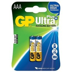 GP Ultra Plus, alkalická AAA baterie, 1.5V, 2ks