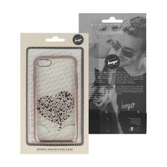 Silikonové pouzdro BEEYO pro iPhone 7 / iPhone 8 - růžovo zláté