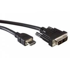 Roline 11.04.5519 DVI-HDMI kabel, DVI-D(M) - HDMI M, 1m