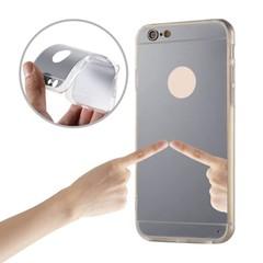 Plastové pouzdro MIRROR pro Huawei P Smart - stříbrné