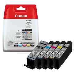 Originální inkoust Canon PGI-580PGBK + CLI-581CMYK (2078C005), PGBK 11,2 + CMYK 4 x 5,6 ml.
