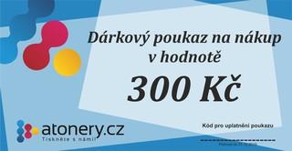 Dárkový poukaz na 300 Kč