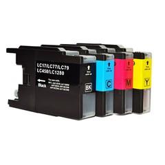 Kompatibilní inkousty s Brother LC-1220/1240/1280 černý, modrý, červený a žlutý